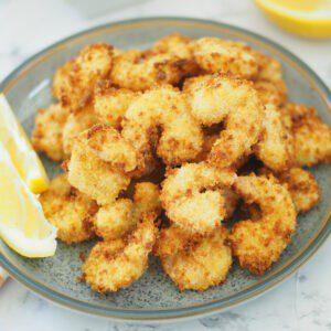 air fryer crispy breaded shrimp