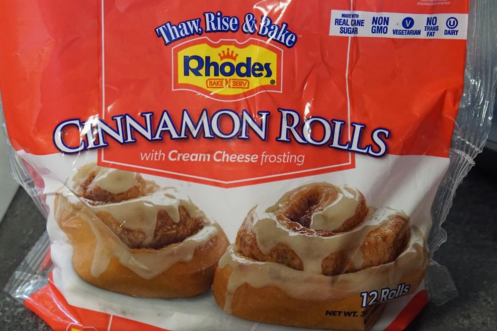 cinnamon rolls in a bag